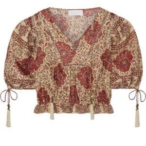 Zimmermann Tulsi Cropped Linen blouse M/L